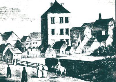 Zamek w XVI w.