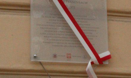 odsłonięcie tablicy dr zygmunta tenenbauma