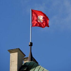Flaga na piotrkowskim zamku