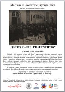 """""""Retro Raut u piłsudskiego"""" - koncert"""